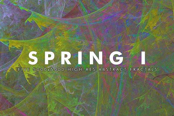 Spring I Fractal Background Art