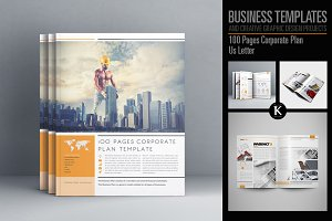 100 Pages Corporate Plan Us Letter