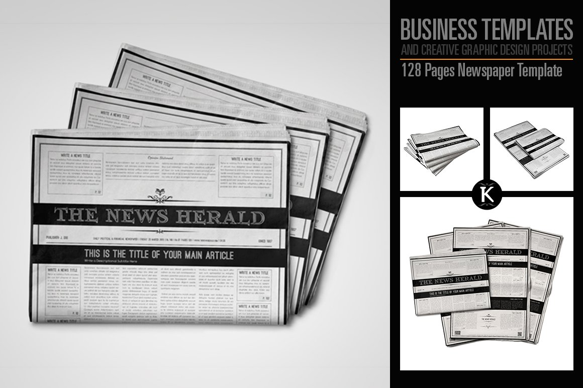 Indesign Newspaper Template ~ Magazine Templates ~ Creative Market