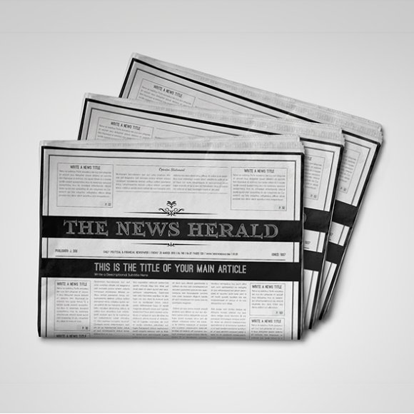 128 Pages Newspaper Template Templates Creative Market