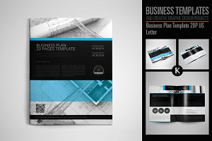 Business Plan Template 20P US Letter