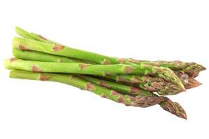delicious green asparagus