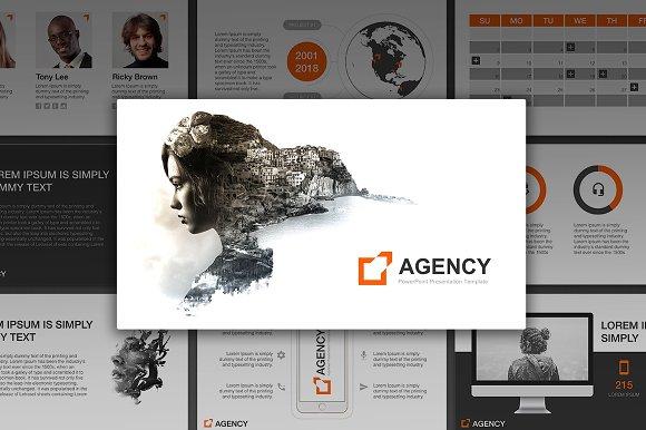Agency powerpoint template presentation templates creative market agency powerpoint template presentations toneelgroepblik Choice Image