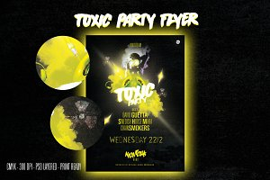 TOXIC party flyer