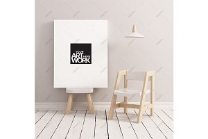 Canvas mockup minimalist nursery