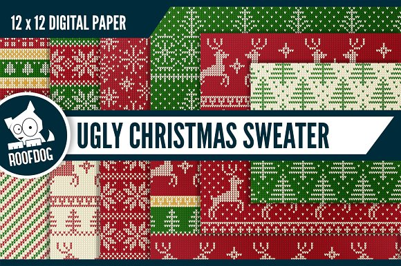 ugly christmas sweater pattern patterns