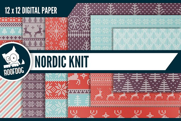Nordic knit winter pattern