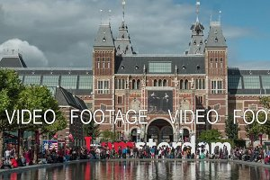 Timelapse of people near Rijksmuseum, Amsterdam