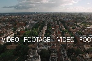Aerial panoramic view of Amsterdam, Netherlands