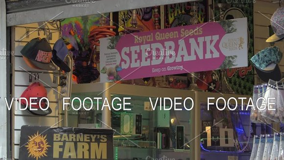 Store With Hookahs And Seed Bank Banner