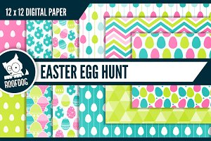 Easter egg hunt digital paper
