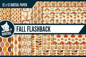Retro autumn digital paper