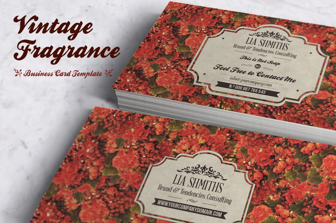 Fragrance Business Card Template ~ Business Card Templates ...