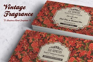 Fragrance Business Card Template