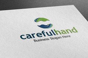 Careful Hand Style Logo