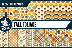 Fall foliage digital paper