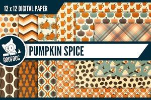 Pumpkin spice latte digital paper