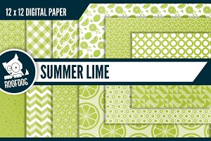 Summer lime digital paper