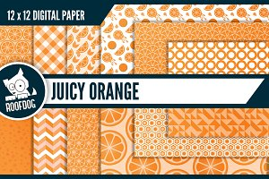 Juicy orange digital paper