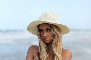 Fashion Model at Beach