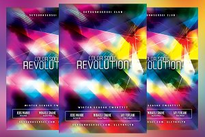 Color Sonic Revolution Flyer