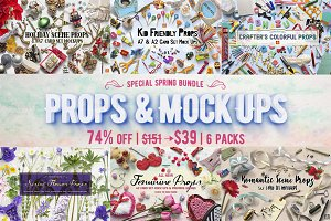 [74% OFF]Props & Mockups Bundle