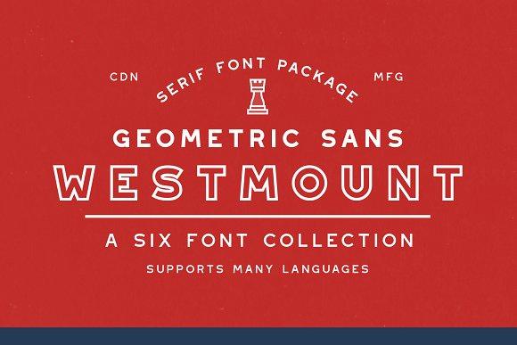 Westmount 6 Sans Serif Fonts
