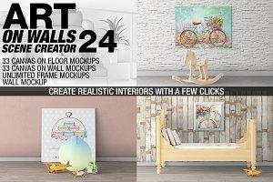 Canvas Mockups - Frames Mockups v 24