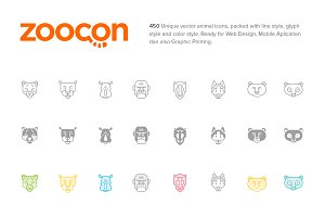 zoocon | Premium Vector Animal Icons