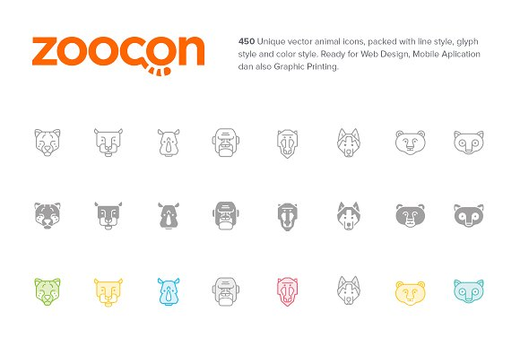 Zoocon Premium Vector Animal Icons