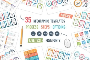 35 Infographic Templates Bundle