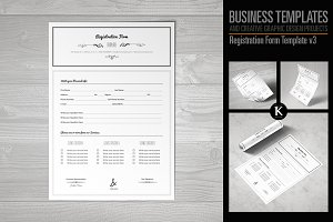 Registration Form Template v3