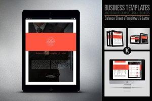 Balance Sheet eTemplate US Letter