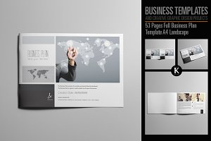 53 Pages Full Biz Plan Landscape