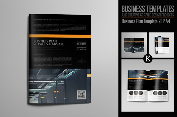 Business Plan Template 20P A4 in Templates