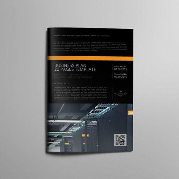 Business Plan Template 20P A4 in Templates - product preview 1