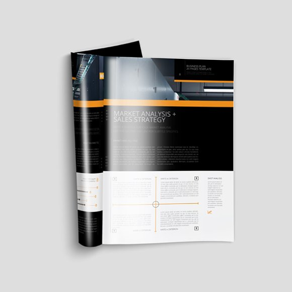 Business Plan Template 20P A4 in Templates - product preview 3