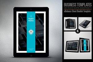 eBalance Sheet Booklet Template