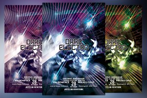 Dark Electro Party Flyer
