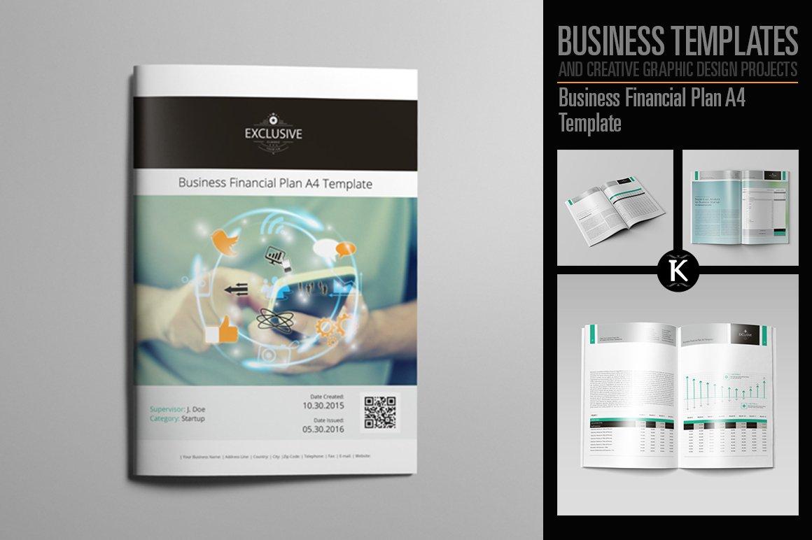 Business Financial Plan A4 Template Templates Creative Market – Financial Plan Template