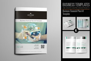 Business Financial Plan A4 Template