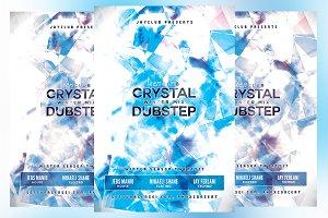 Crystal Winter Mix Dubstep Flyer