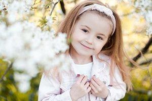 Summer portrait of child girl
