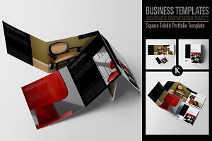 Square Trifold Portfolio Template
