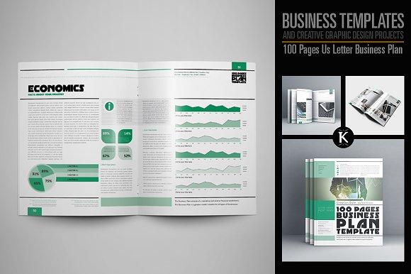 100 pages us letter business plan templates creative market 100 pages us letter business plan templates fbccfo Images