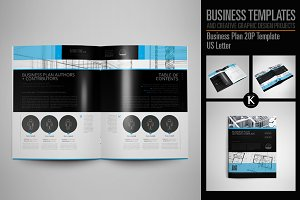Business Plan 20P Template US Letter