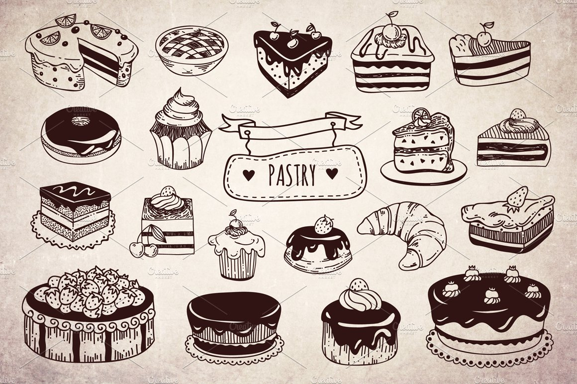 Free Coffee And Cake Vector