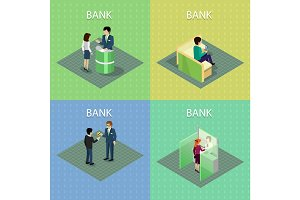Set of Bank Concepts in Isometric Projection.