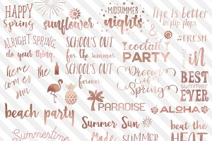 Rose Gold Summer Typography