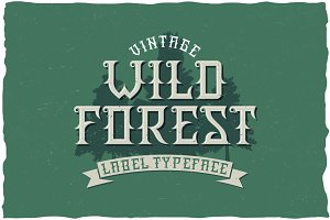 WildForest Vintage Label Typeface